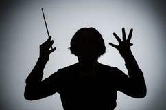 Der lustige Leiter im musikalischen Konzept Lizenzfreies Stockbild