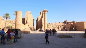 Der Luxor-Tempel vollen HD Video am Nacht stock video footage
