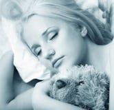 Der Mädchenschlaf Lizenzfreies Stockfoto