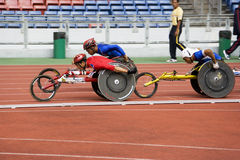 Der Männer 1500 Meter Rollstuhl-Rennen- Lizenzfreie Stockfotografie