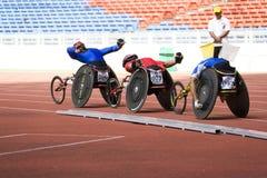 Der Männer 1500 Meter Rollstuhl-Rennen- Lizenzfreies Stockfoto