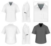 Der Männer des Knopfes Hemd-Entwurfsschablone unten stock abbildung