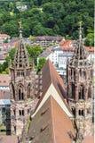 Der Münster von Freiburg (Deutschland) lizenzfreie stockbilder