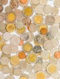 Der Münzenhintergrund Stockfoto
