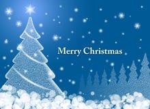 Der magische Weihnachtsbaum. Stockbild