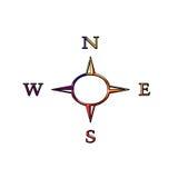 Kompasssymbol Lizenzfreie Stockbilder