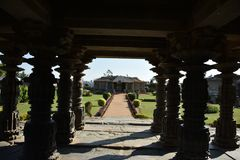 Der Mahadeva-Tempel, West-Chalukya, Itagi, Koppal, Karnataka Lizenzfreie Stockfotos