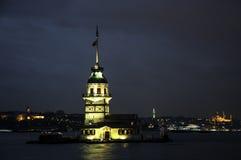 Der Maiden's-Turm in Ä°stanbul, die Türkei Lizenzfreies Stockfoto