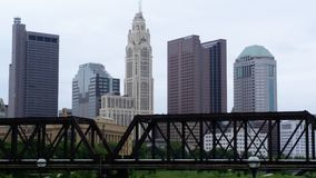 Der majestätische LeVeque-Turm in Columbus, Ohio Stockbilder