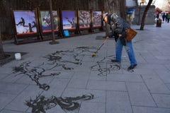 Der Maler von Beihai-Park stockfotos