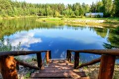 Der malerische See Lizenzfreies Stockbild