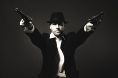 Der Mann in Art Chicago-Gangster Stockbild