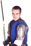 Der Mann in der Rüstung. Ritter. Lizenzfreie Stockbilder