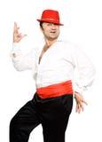 Der Mann in einem roten Hut Lizenzfreie Stockfotografie