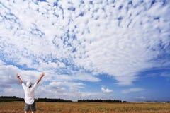 Der Mann in einem weißen Hemd Lizenzfreie Stockbilder