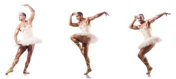 Der Mann im Ballettballettröckchen Lizenzfreies Stockbild