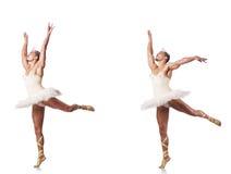Der Mann im Ballettballettröckchen Stockfotos