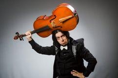 Der Mann im musikalischen Kunstkonzept Stockbilder