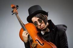 Der Mann im musikalischen Kunstkonzept Stockbild
