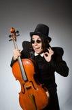 Der Mann im musikalischen Kunstkonzept Stockfoto