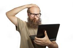 Der Mann macht Fehler Lizenzfreies Stockfoto