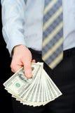Der Mann mit Dollar Lizenzfreie Stockfotos
