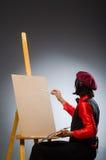 Der Mannkünstler im Kunstkonzept Stockfoto