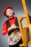 Der Mannkünstler im Kunstkonzept Lizenzfreie Stockfotos