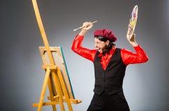 Der Mannkünstler im Kunstkonzept Stockfotos