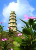 Der Manora-Fortturm mit bewölktem Himmel Stockbild