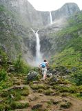 Der Mardalsfossen Wasserfall Stockfotos