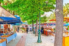 Der Markt von lokalen Spezialitäten in Ajaccio Lizenzfreie Stockbilder