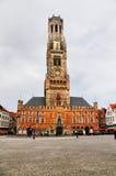Belfort (Belfry) von Brügge, Belgien Lizenzfreie Stockfotos