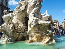 Der Marktplatz Navona mit seinen Brunnen durch Bernini und Della Porta in Rom Italien Lizenzfreies Stockbild