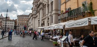 Der Marktplatz Navona stockbild