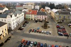 Der Marktplatz Premysl Otakar in Litovel Lizenzfreie Stockfotografie