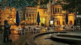 Der Marktplatz in Rinteln Germany. Historic Romantic view City Germany Royalty Free Stock Photography