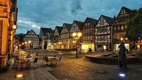 Der Marktplatz in Rinteln. HISTORIC city Germany stock photos