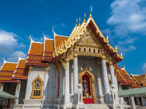 Der Marmortempel oder Wat Benchamabophit, Bangkok Thailand Lizenzfreie Stockbilder