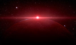 Der Mars geschossen vom Raum Stockfotos