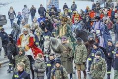 Der Marsch der drei Könige anlässlich des Weihnachten stockbilder