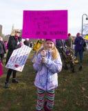 Der Marsch Hartford Connecticut der Frauen Stockfoto