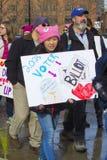 Der Marsch Hartford Connecticut der Frauen Lizenzfreie Stockfotografie
