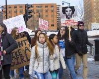 Der Marsch Hartford Connecticut der Frauen Stockbilder