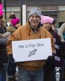 Der Marsch Hartford Connecticut der Frauen Lizenzfreies Stockfoto
