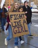 Der Marsch Hartford Connecticut der Frauen Lizenzfreie Stockfotos