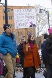 Der Marsch Hartford Connecticut der Frauen Lizenzfreies Stockbild