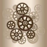 Der Mechanismus mit Gängen lizenzfreie stockfotos