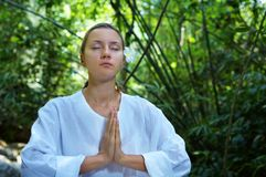 In der Meditation Stockbilder