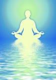 In der Meditation Stockbild